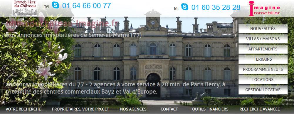 Agence de vente de biens immobilier et location  immobilière a Collégien 77